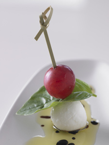 Grape Caprese Salad Hors d' Oeuvres