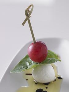 Grape Caprese Salad Hors d' Oeuvres