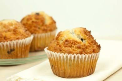 Blueberry Flax Bran Muffins