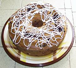 Chocolate Cherry Sour Cream Coffee Cake