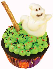 Bubbling Cauldron Cupcakes for Halloween