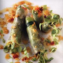 Raw Foods Cucumber Summer Rolls