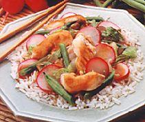 Hoisin Chicken and Radish Stir Fry