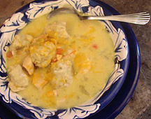 Low Carb Chicken and Dumplings