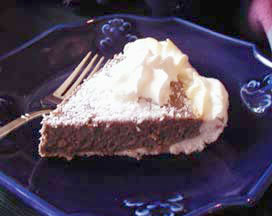Sugar Free, Low Carb Chocolate Coconut Meringue Pie