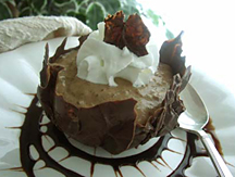 Low Carb Mocha Tapioca Pudding in Chocolate Cups