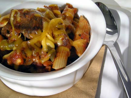 Low Carb Steak and Penne