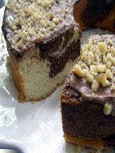 Low Carb Sugar Free Chocolate Vanilla Pound Cake