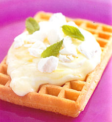 Lemon Meringue Waffles