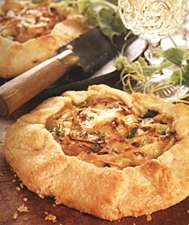 Cheese, squash and onion galette