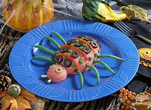 Mashed Potato Spiders -- Halloween Recipes