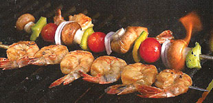 Citrus Grilled Shrimp Kebabs