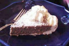 Sugar Free, Low Carb Chocolate Coconut Meringue Pie