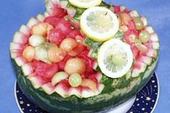 How to carve a watermelon fruit basket