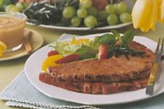 Peanut Glazed Ham Steaks