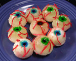 Virgin Pina Colada Gelatin Eyeballs for Halloween