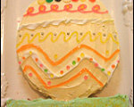 Easy to Decorate Easter Egg Cake