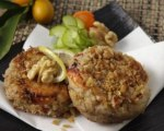 Spicy Crab Cakes with Walnut Crust