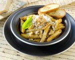 Penne with Red Pepper Walnut Pesto
