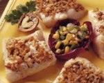 Walnut Coated Fish Fillets with Corn Salsa