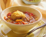 Slow Cooker Lentil Stew with Cornmeal Dumplings