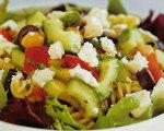 The Poor Chef's Mediterranean Chickpea Pasta Salad