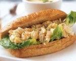 Seafood salad rolls