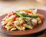 Tuscan crab and asparagus pasta