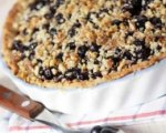 Easy apple blueberry pie with crumb topping