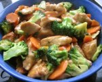 Chinese chicken with broccoli and carrots