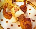 Stephan Pyles' Annatto Shrimp Blue Corn Tamales