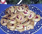 Orange Cranberry Swirl Cookies