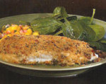 Mediterranean Crusted Halibut