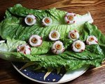 Bloody eyeball hors d'oeuvres for Halloween