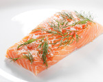 Rozanne Gold's Swedish cured salmon