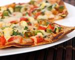 Vegetarian Lavosh Pizza