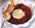 Baked Goat Cheese and Tomato Fondue