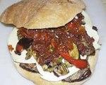 Vegetarian Muffuletta Sandwich