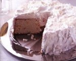 Orange Angel Food Cake with Coconut Icing