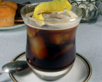 Iced Black Coffee with Lemon Peel