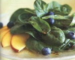 Spinach Salad with Nectarines and Blueberries