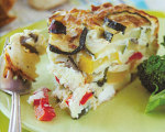 Vegetable Torta with Fresh Basil