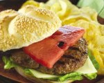 Grilled Watermelon Cheddar Burgers