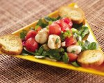 Watermelon and Mozzarella Salad with Fresh Basil