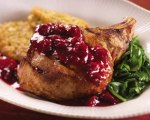 Watermelon and Cranberry Glazed Pork Chops