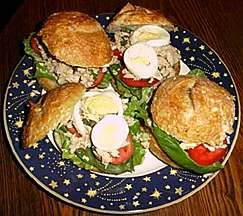 Tuna Sandwich with Capers and Fresh Basil