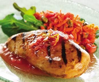 Maple, Citrus and Watermelon Glazed Chicken