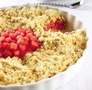 Watermelon and Shortbread Cookie Crumble