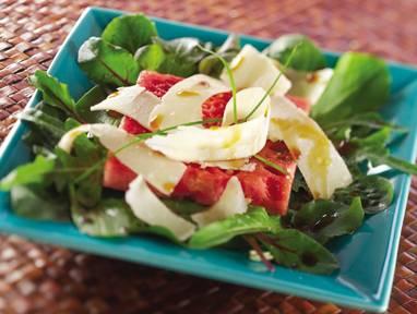Quick Watermelon Parmesan Salad