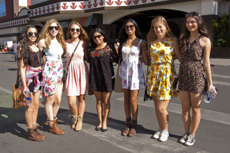 Music festival fashionistas